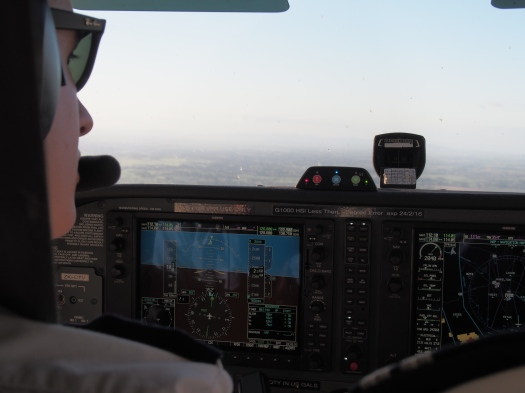 Flying back to Hamilton after an Ops route to Rotorua and Te Kuiti