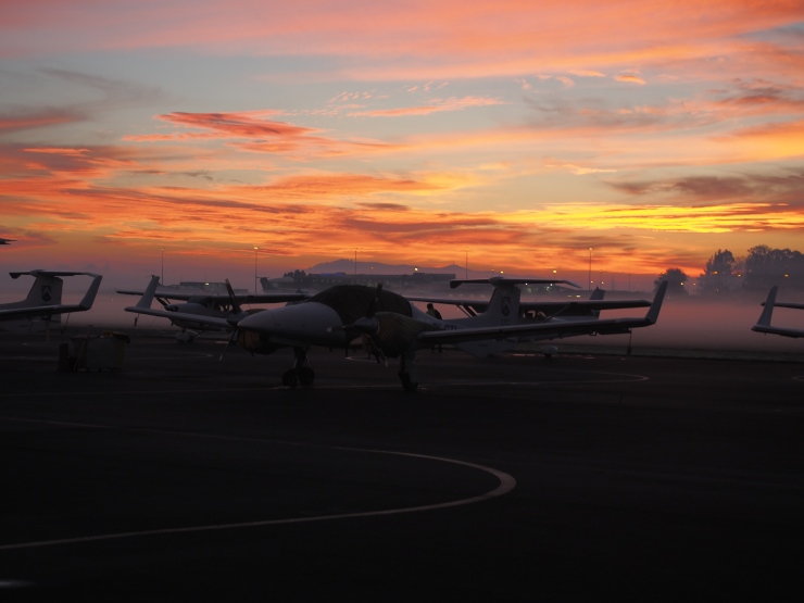 An amazing view whilst doing the morning pre-flight!